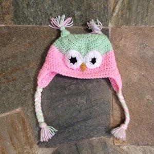 Other - Crochet owl hat cap new no tag